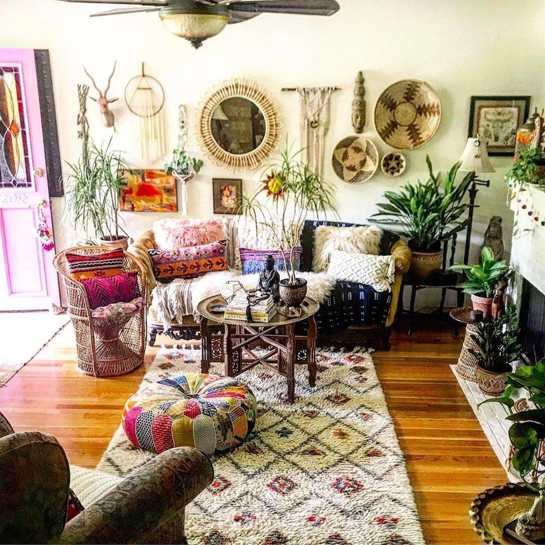 rusticlivingroomideas  hippie home decor living room