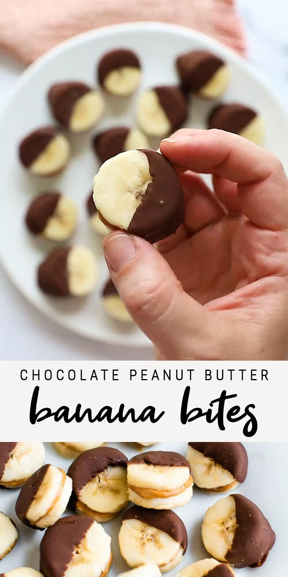 Chocolate Peanut Butter Banana Bites | Healthy Fro