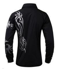 Photo of Tribal Dragon Tattoo Businesshemd, #Businesshemd #Dragon #tattoo #Tribal #tribaldragontattoo