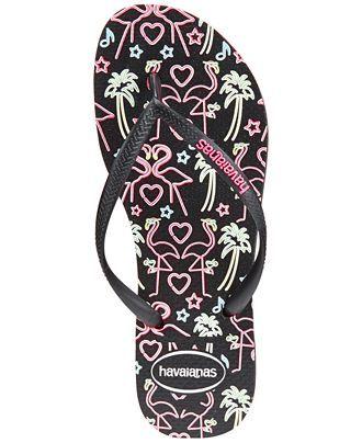 e4c02682fa4190 Havaianas Women s Slim Flamingo Flip Flops - Sandals - Shoes - Macy s