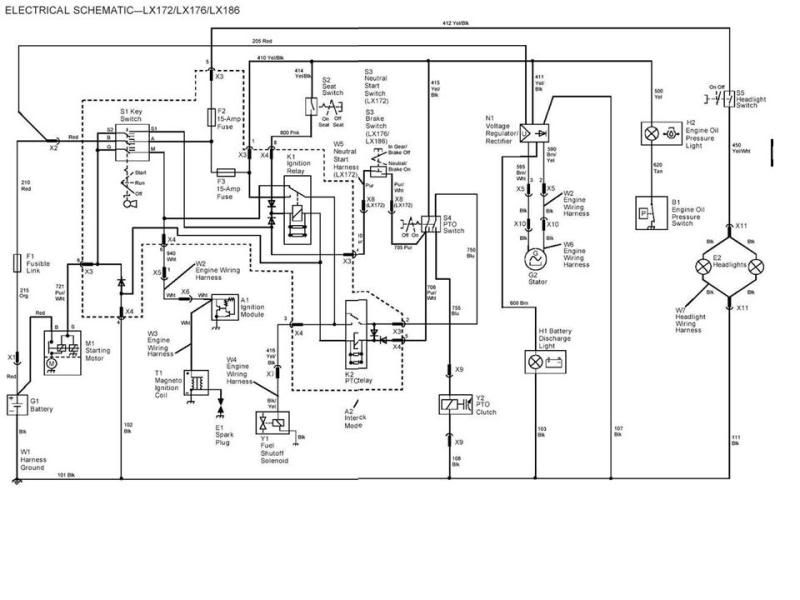 wiring diagram for john deere 332