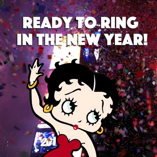 New Year, new YOU! New Years Eve. Betty Boop, December 2016