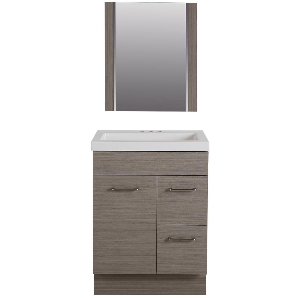 Admirable Glacier Bay Jayli 24 5 In W Vanity In Haze With Cultured Theyellowbook Wood Chair Design Ideas Theyellowbookinfo