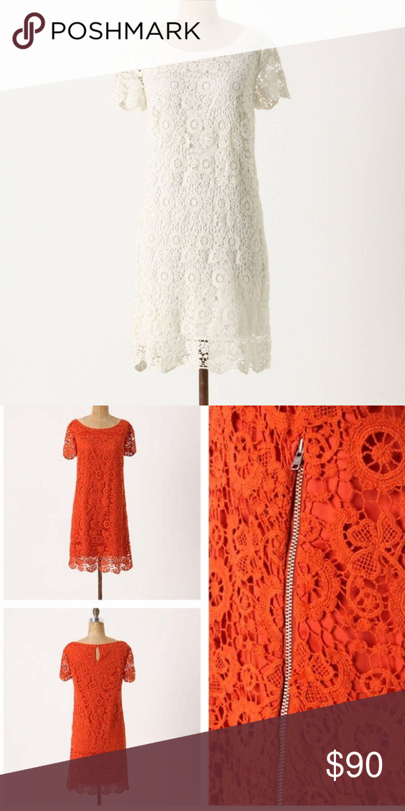 17d9ca1bec50 Anthropologie- horkelia shift dress A monochrome dress from moulinette  soeurs, abloom with cotton lace