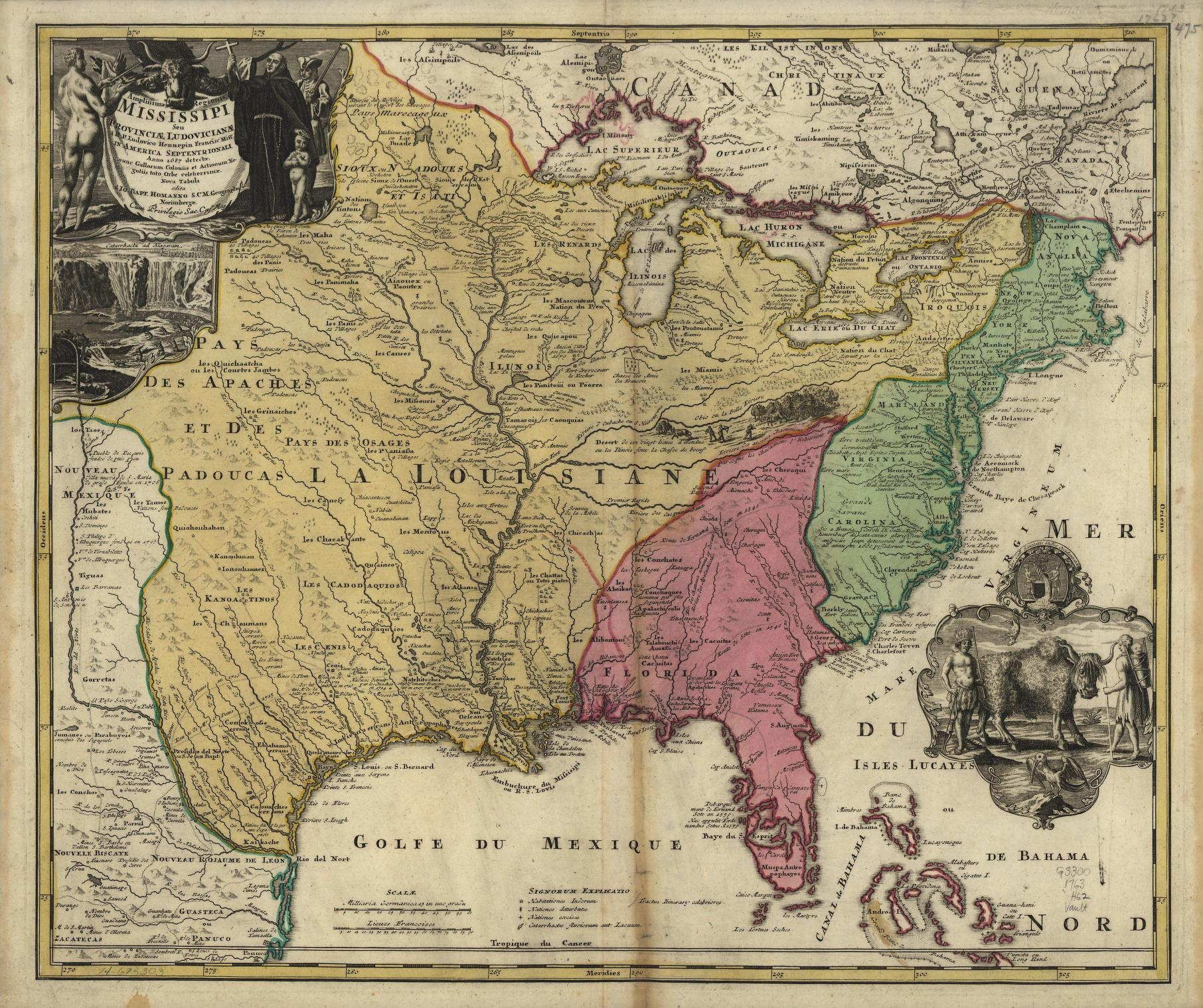 Map of the United States in 1700