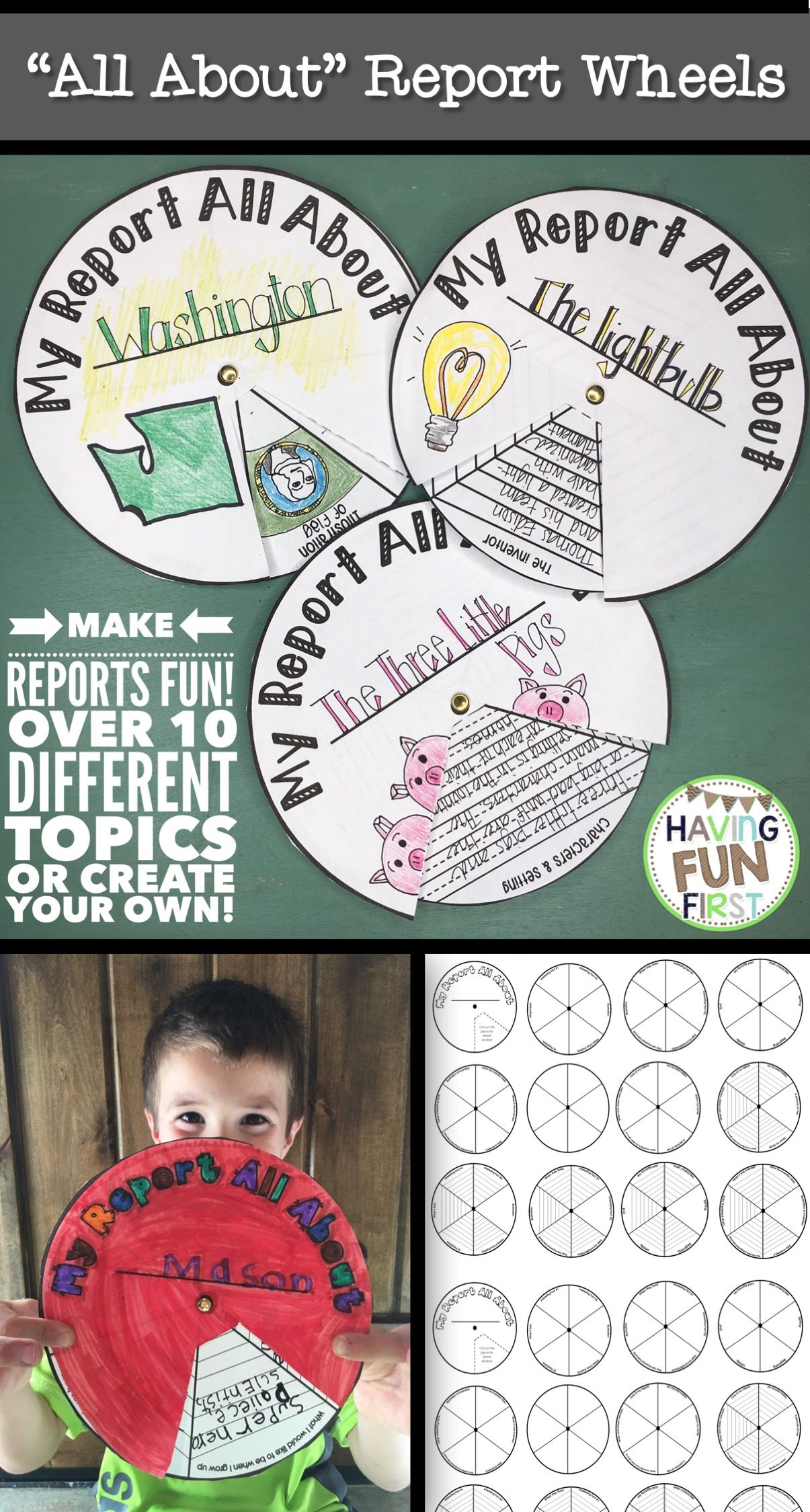 nonfiction informational text all about report wheels report