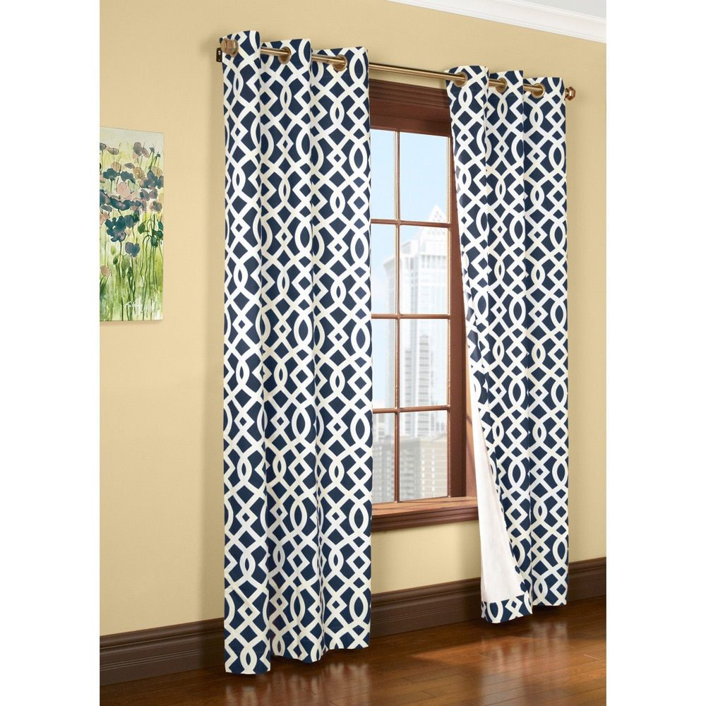 Trellis Printed Thermal Insulated Curtain Panel With Images