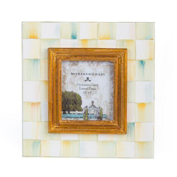 fbbd71984c44 MacKenzie-Childs Parchment Check Enamel Frame - 2.5