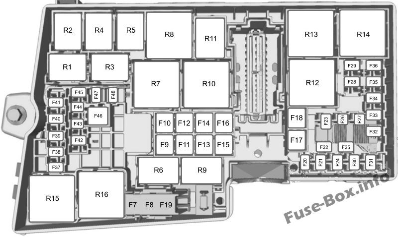 Under Hood Fuse Box Diagram Ford Escape 2013 2014 2015 2016