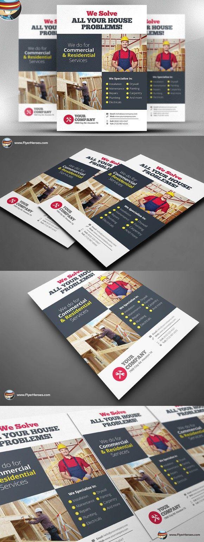 handyman flyer template v3 flyer templates pinterest flyer