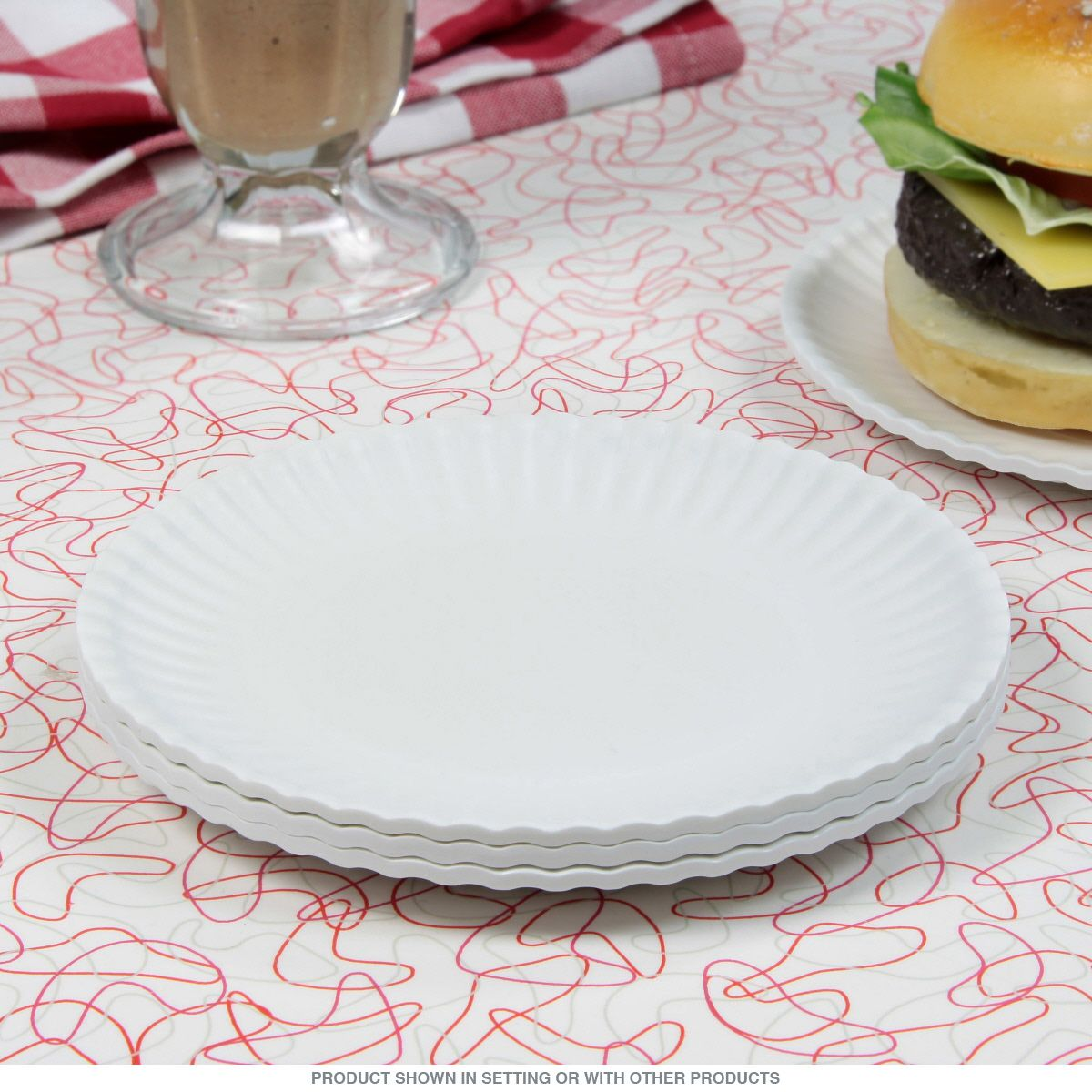 Washable Melamine Paper Style Plate Set 6 in & Washable Melamine Paper Style Plate Set 6 in | Dishwashers