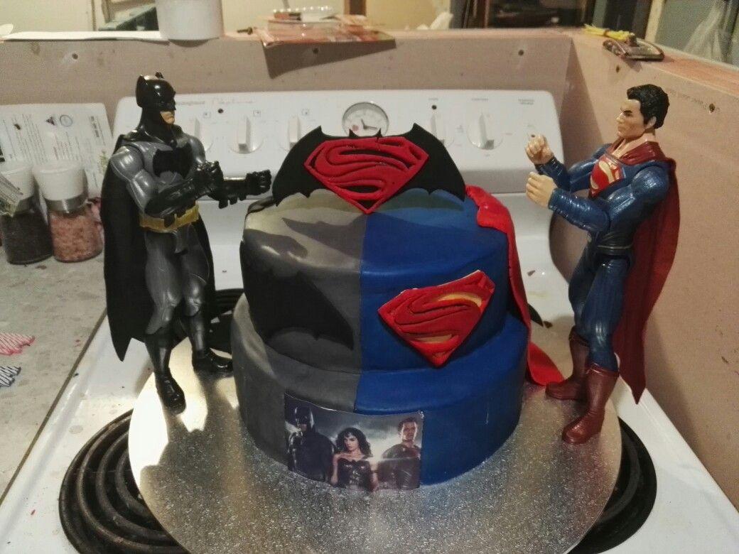 Ari Birthday Cake Batman Vs Superman Superman Birthday Party