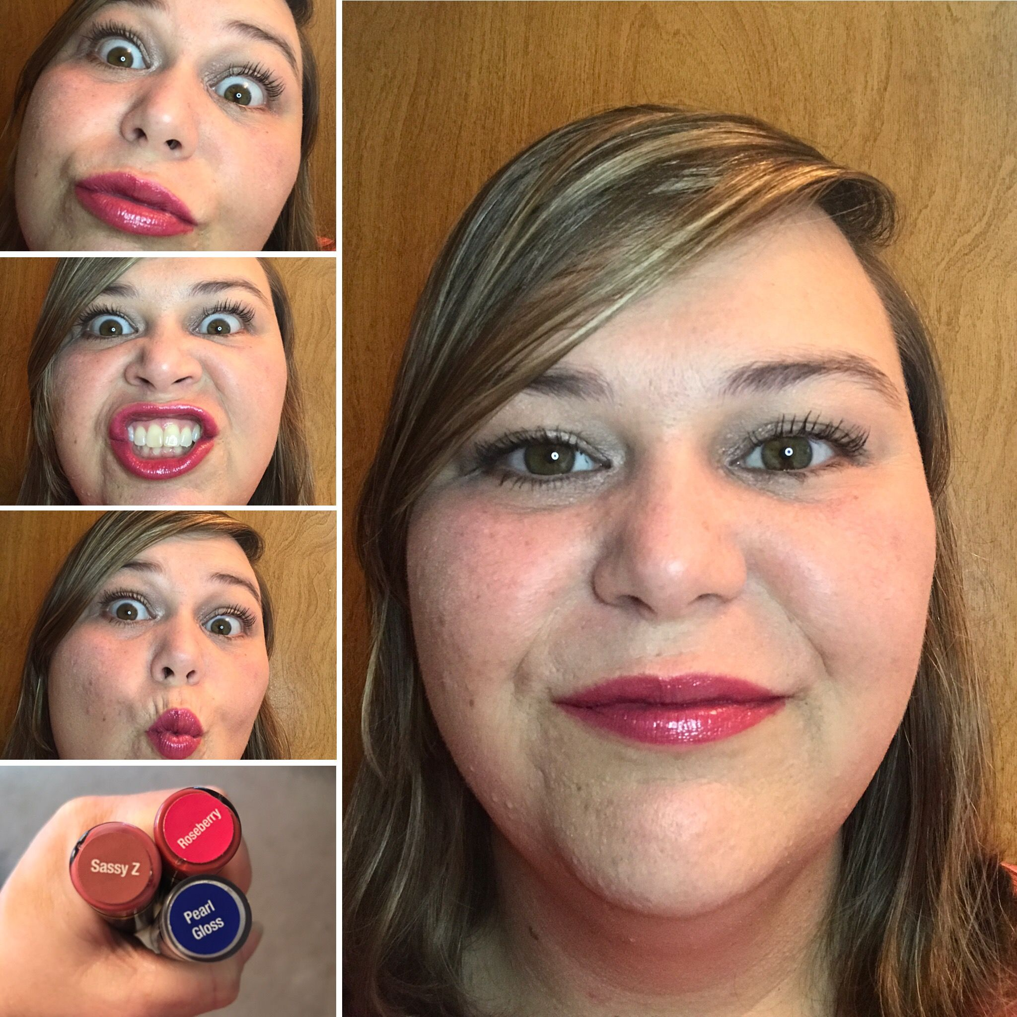 Sassy Z layered with Roseberry!! LipSense for the win!! Message me to