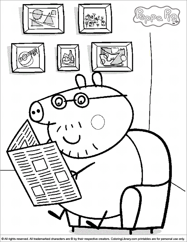 peppa pig coloring pages and sheets find your favorite cartoon coloring picures in the coloring library