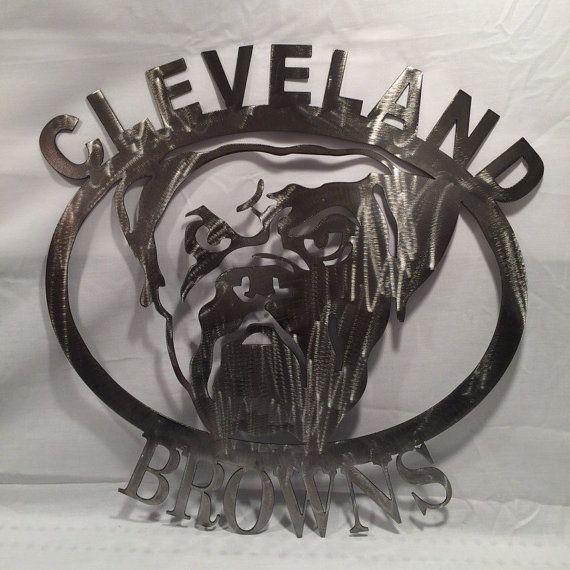 Cleveland browns metal wall art, browns football | 1 | Pinterest ...
