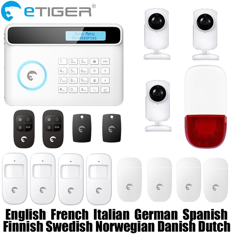 Free shipping etiger S4 Wireless 433mhz network GSM/PSTN