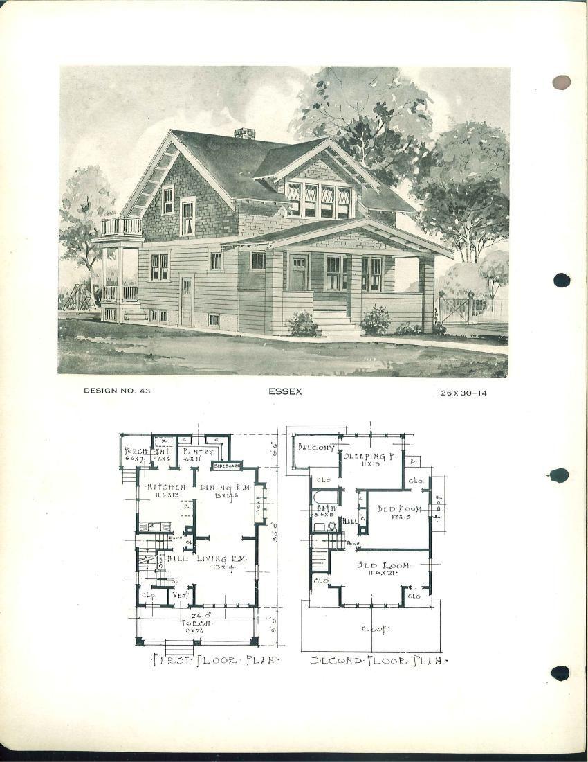 building service house plans - 1940s Beach House Plans