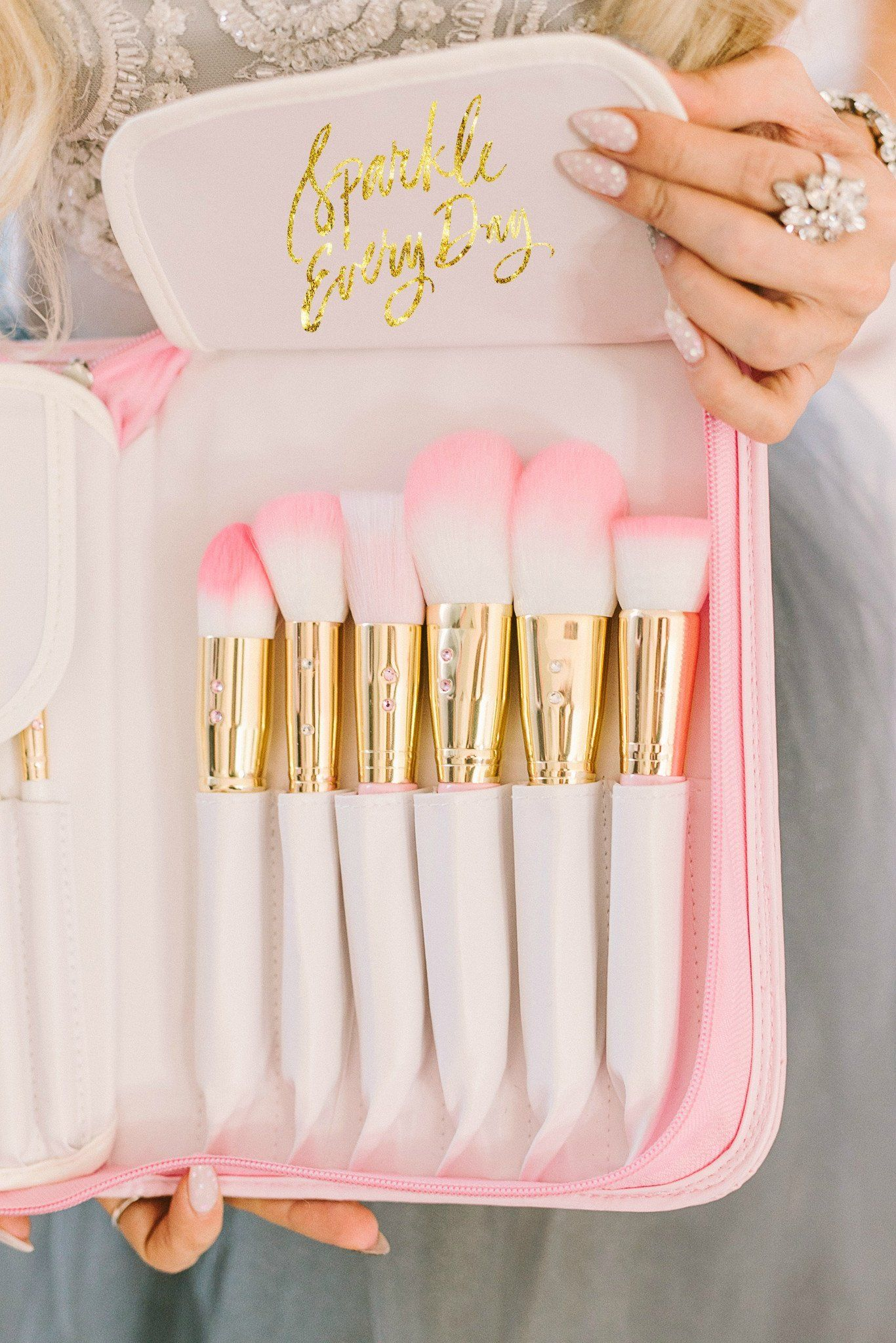 Pink Glam Brush Book💕 Makeup brush set, Best makeup