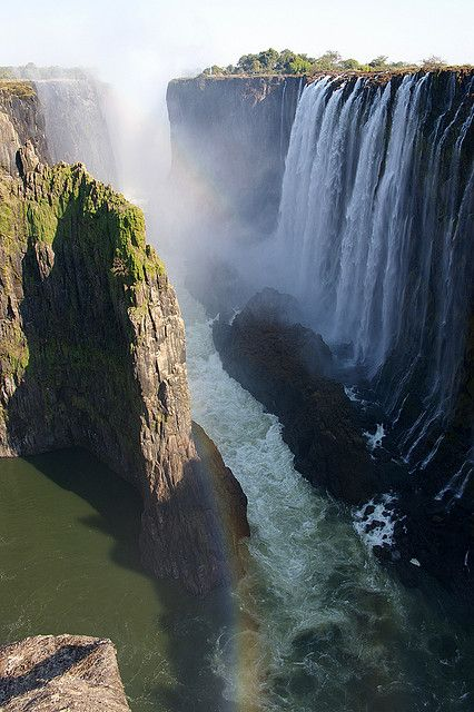 The smoke that thunders, Victoria Falls, Zambia/Zimbabwe - by Dominique Schreckling