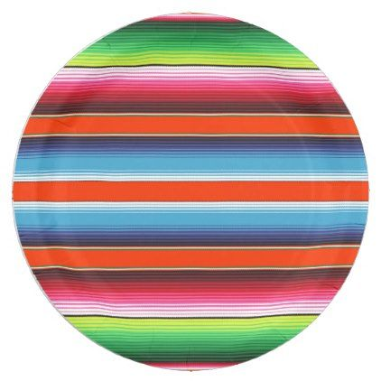 Traditional Spanish Serape Fiesta Mexican Blanket Paper Plate - traditional gift idea diy unique | traditional | Pinterest | Fiestas  sc 1 st  Pinterest & Traditional Spanish Serape Fiesta Mexican Blanket Paper Plate ...