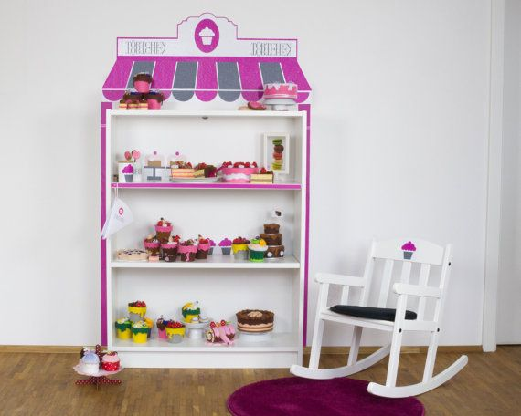 Create Your Own Sweet Store Cupcake Shop For Children With Limmaland Wall Stickers Suitable For Ikea Furniture Toy Store Billy Ikea Decoracion De Unas Etsy