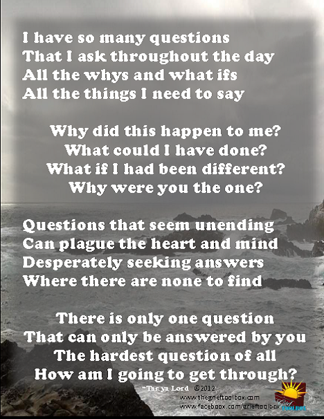 Questions | The Grief Toolbox