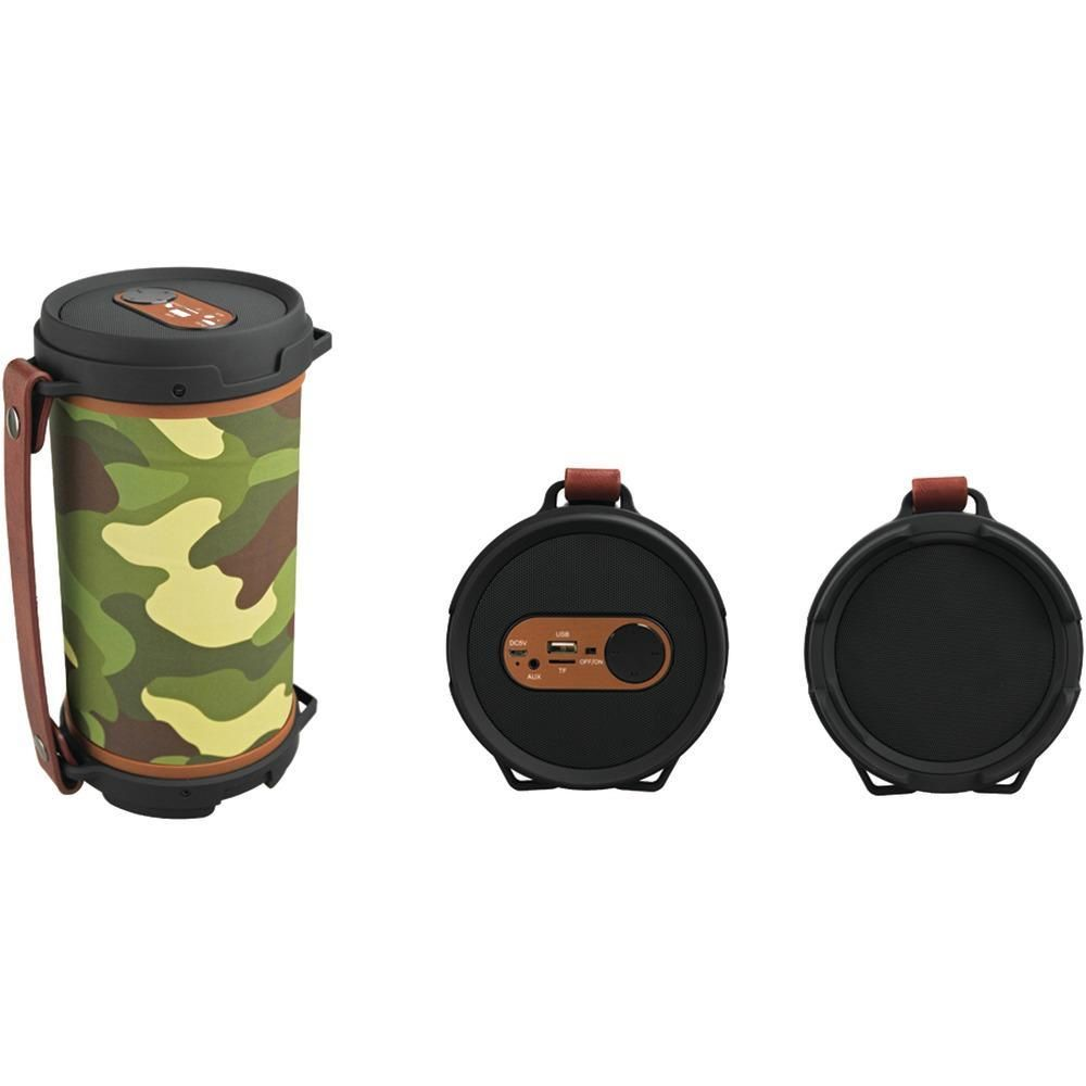 SYLVANIA(R) SP807-CAMO Hi-Fi Bluetooth(R) Rugged Tube