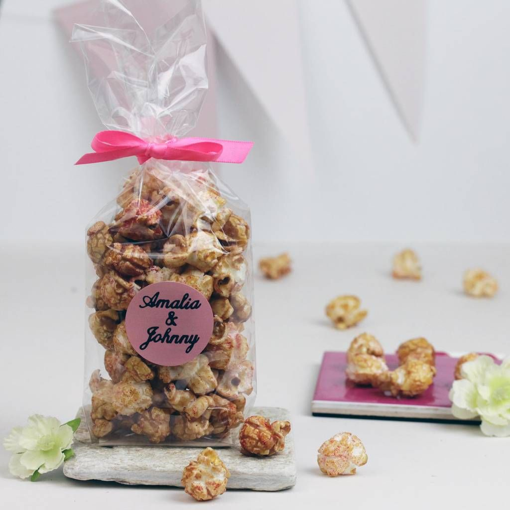 Personalised Prosecco Popcorn Wedding Favours | Prosecco, Favors and ...