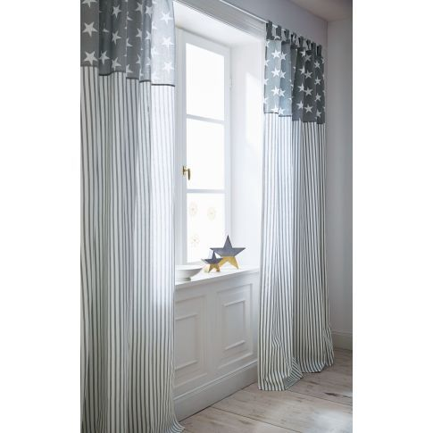 vorhang stars and stripes schlaufenaufh ngung baumwolle. Black Bedroom Furniture Sets. Home Design Ideas