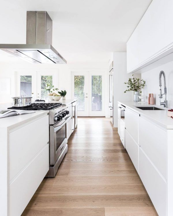 Galley Kitchen #whitegalleykitchens