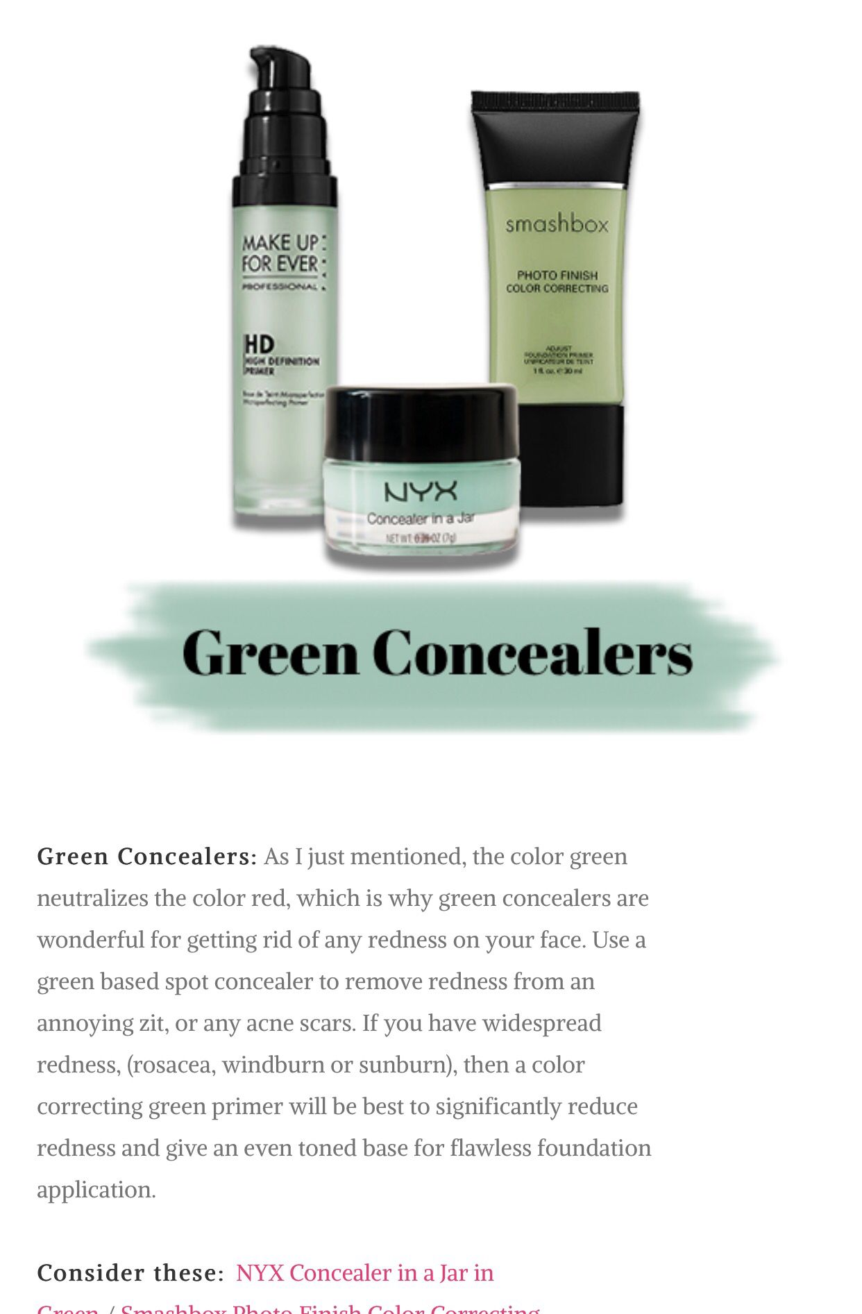 Color Correcting Concealers Guide Beauty Color