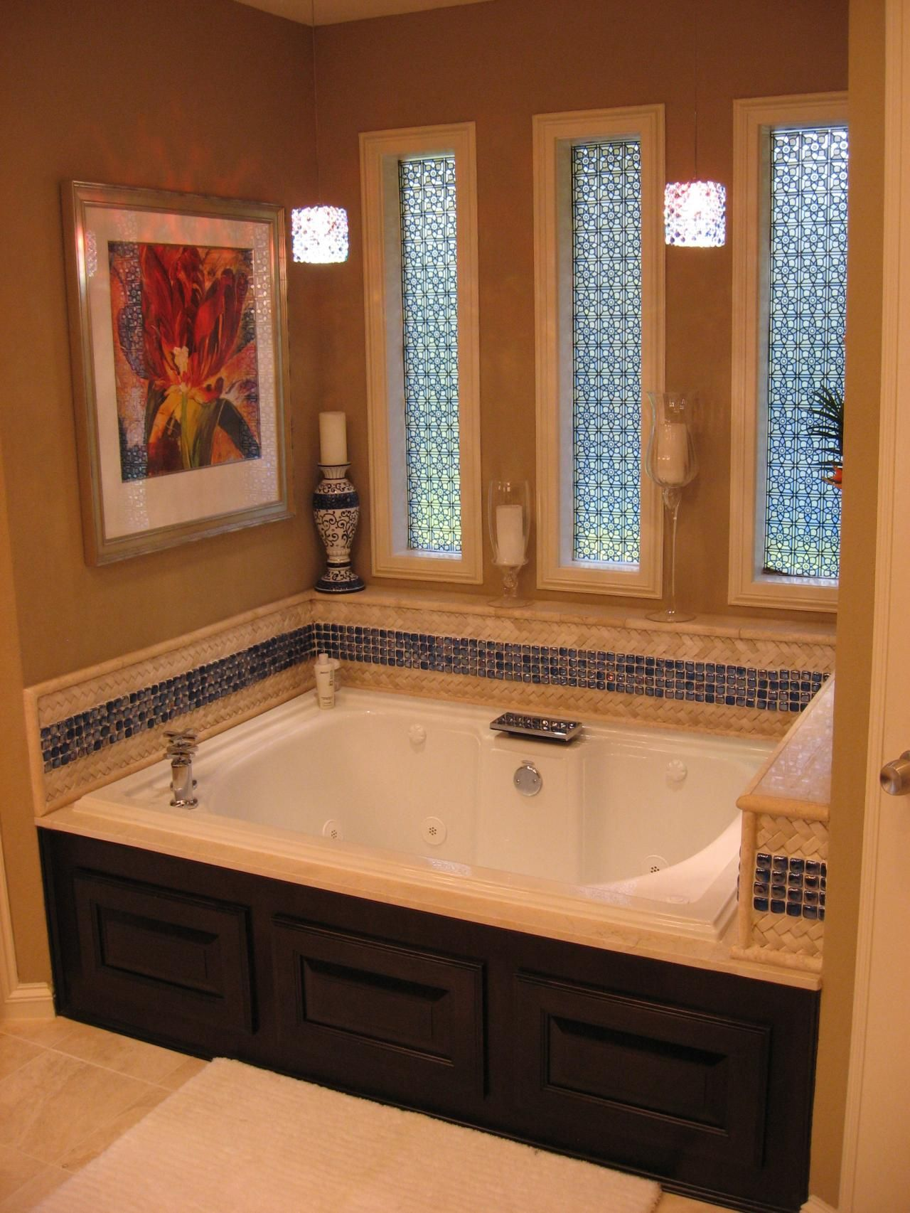 mosaic tiles bathroom alcove tub mosaic tiles