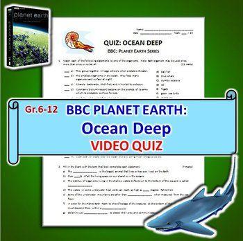 Planet Earth Ocean Deep Video Quiz Editable Bbc Planet Earth Ocean Deep Quiz