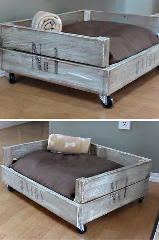 10 Visually Appealing Dog Beds For The Home Diy Dog Bed Pallet
