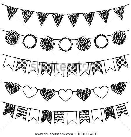 33++ Pennant banner clipart black and white information