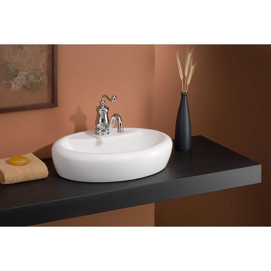 Cheviot 1273 Wh 1 Milano White Vessel Single Bowl Bathroom Sinks