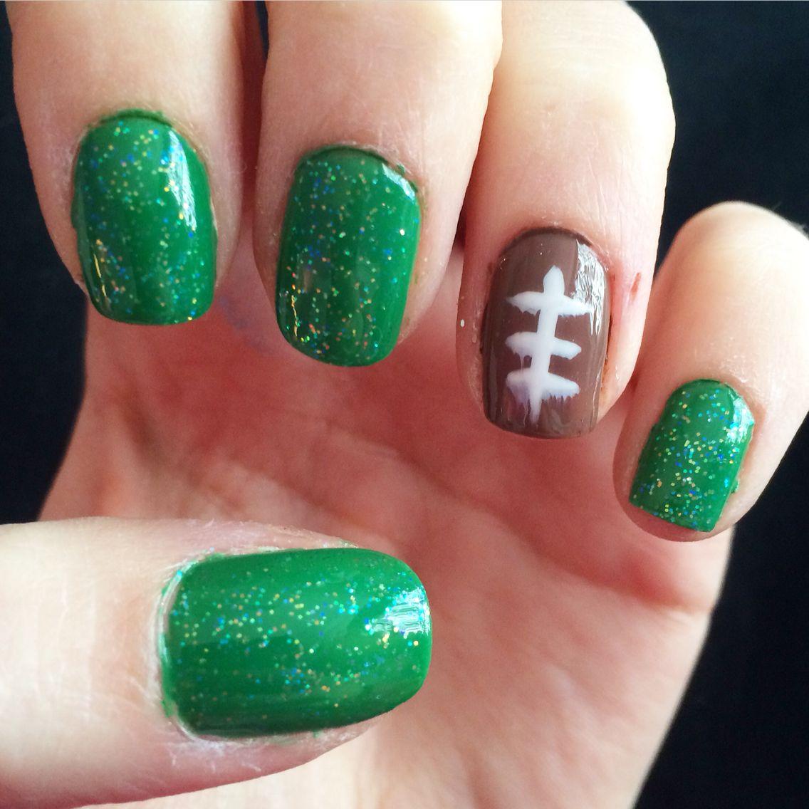 Super bowl Sunday / football nails  #mani #nails #foodball #Superbowl #nailsbyjade