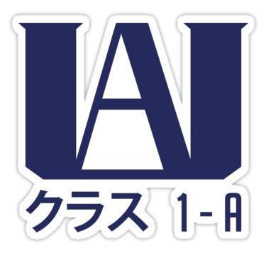 U A High School 3 Sticker By Kyuubi713 In 2021 School Stickers Inspirational Tshirts Stickers