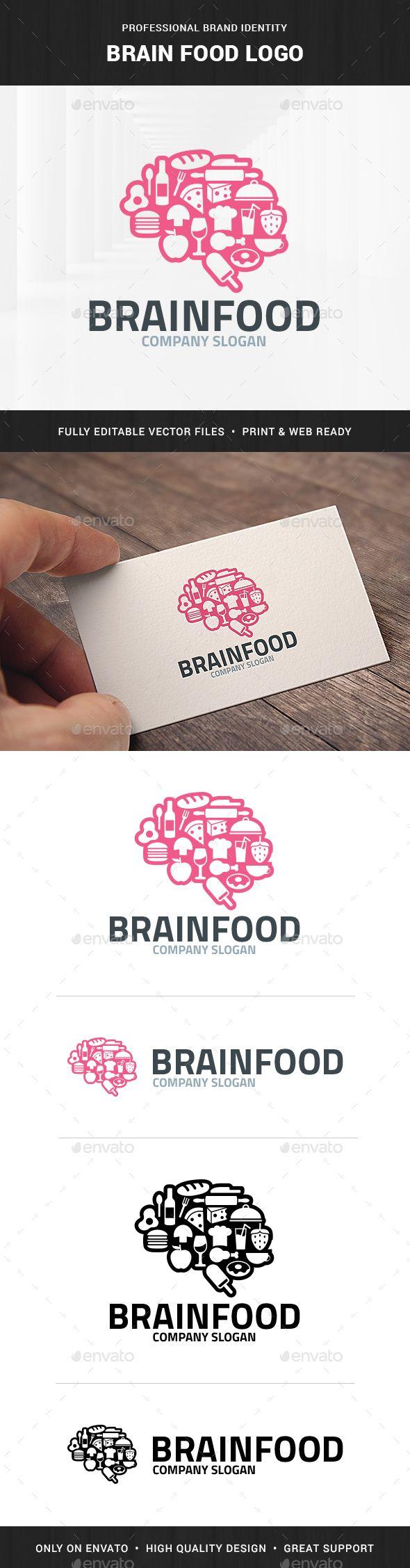 Brain Food Logo Template