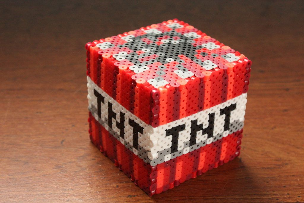 minecraft tnt block perler beads by puppylover5 perler. Black Bedroom Furniture Sets. Home Design Ideas