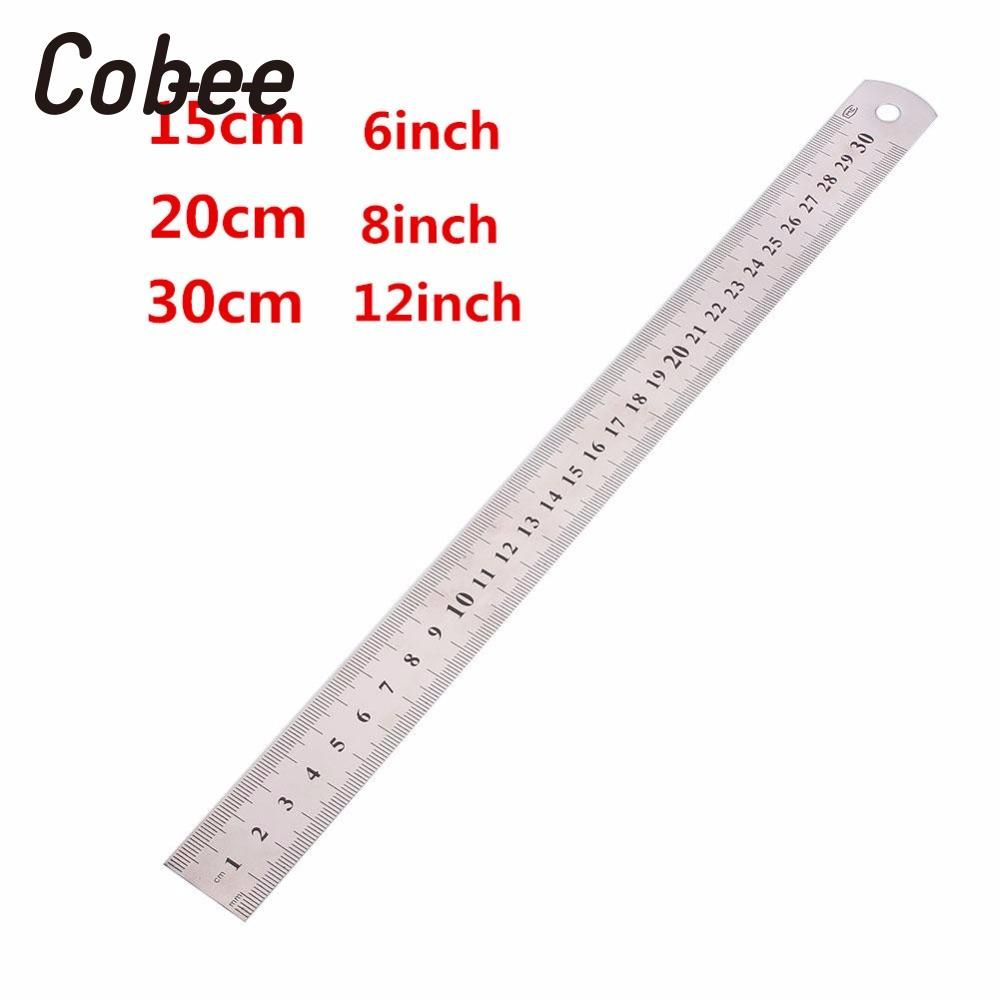 20cm Stainless Steel Ruler Metric//English New