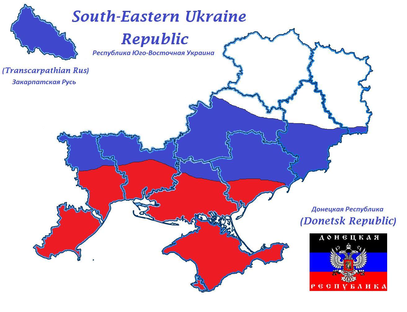 SouthEastern Ukraine future map Novorossiya  The Future