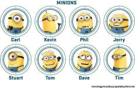Nombres de los minions