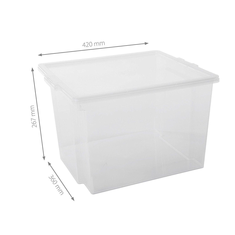 Iris 6er Set Aufbewahrungsboxen Kisten Mit Deckel Stapelboxen