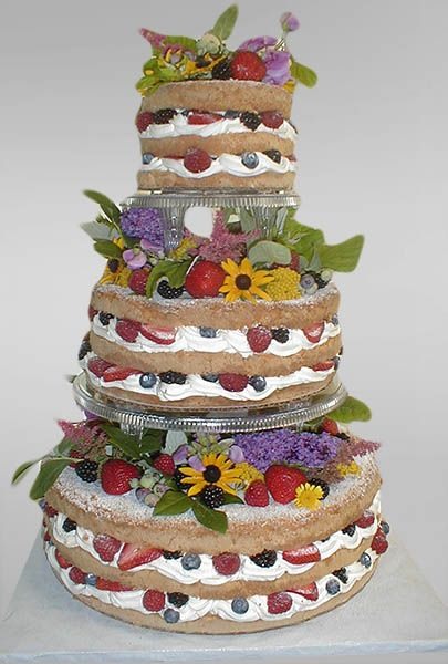 Delightful Wedding Cakes Without Icing   Google Search