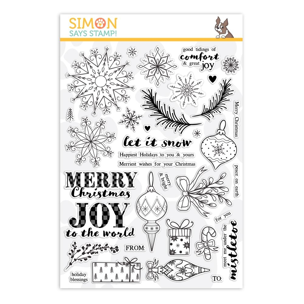 Simon Says Clear Stamps COMFORT AND JOY sss101956 in 2020