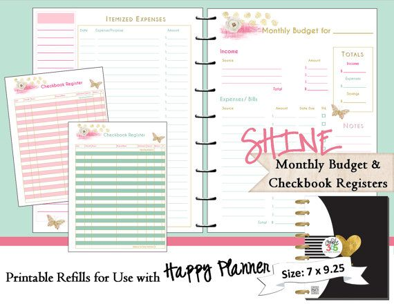 daily planner with budget