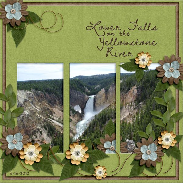 Lower Falls On The Yellowstone River Ps_GPfont_rtNB