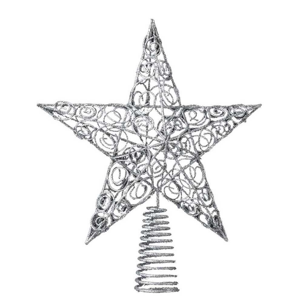 Kurt Adler 10-Inch Silver Star Treetop | christmas | Pinterest