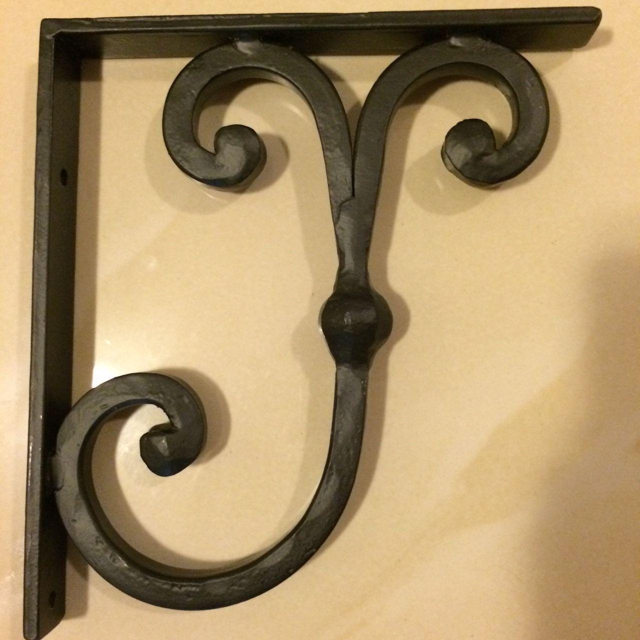 Wrought Iron Granite Countertop Corbel and Decorative Shelf Bracket ...